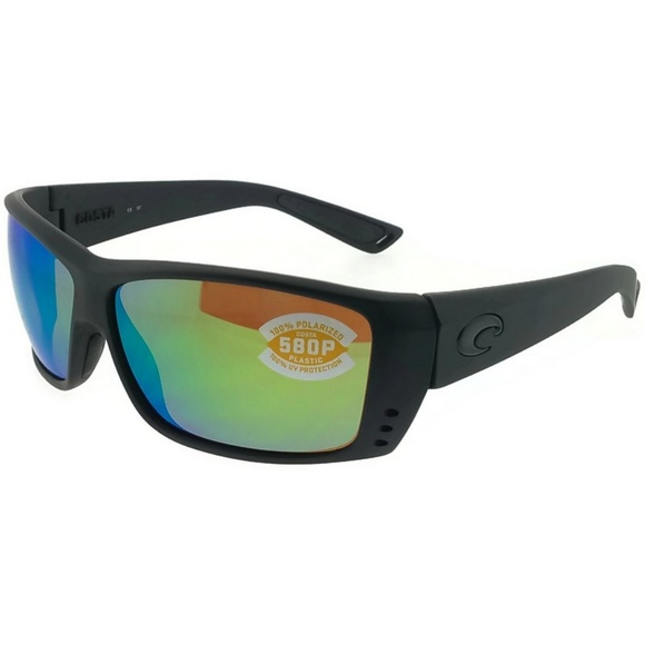 8651acbcdf AT01OGMP Unisex Black Frame Green Lens Polarized. NWT. COSTA DEL MAR